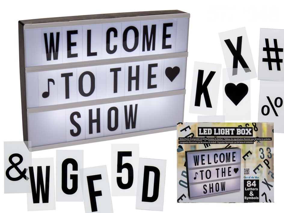 Lightboard letters