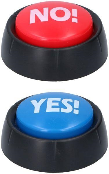Fun buttons yes en no